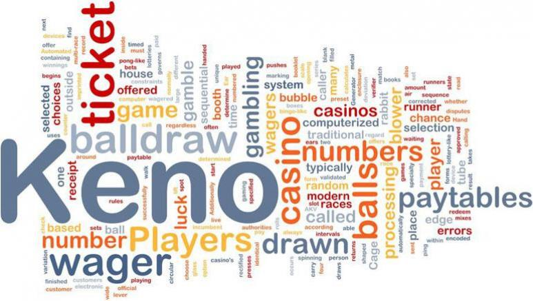 Keno, ticket, number, wager and Casino